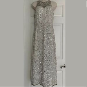 Scala Vintage Silk Beaded Gown